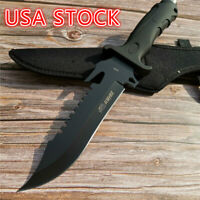 """12.2"""" Wild Survival Hunting Knife Outdoor Straight Knife 55HRC Hardness Straight"""