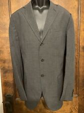 Polo Ralph Lauren Cotton Suit Glen Plaid Gray 42L Italy EUC