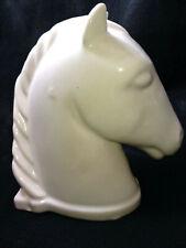 "Vintage Abingdon USA Horse Head Bookend Ceramic White 6.5"" Tall"