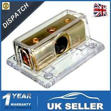 2-way Car Audio Stereo Power Ground Distribution Block 1/0awg in 4 GA out