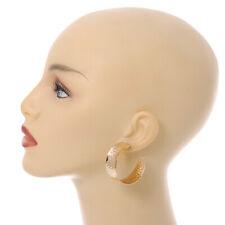 40mm Wide Hammered Gold Tone Hoop Earrings