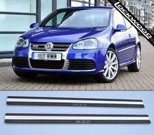 Volkswagen Golf Mk5 R32 Polished Steel Kick Plate Car Door Sill Protectors - K71