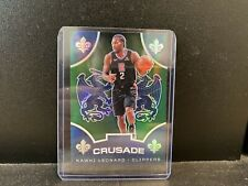 KAWHI LEONARD 2019-20 Panini Chronicles Crusade Green PRIZM #533 Clippers