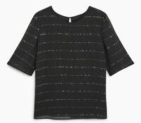 Ex Next  Black  Shirt Blouse Top Tunic Plus Size  8 10 12 14 16 18 20 22