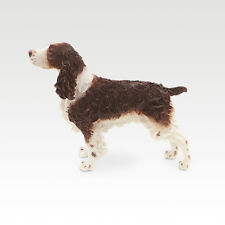 Resin MINI English Springer Spaniel dog Hand Painted simulation model Statue