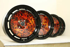 "Custom Hydro Dipped Rota D154 16"" alloys Mazda VW Honda Suzuki Mini E30 4x100"