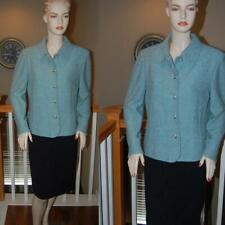 ST. JOHN KNIT BLUE STUNNING COLLECTION  SUIT JACKET SZ 12