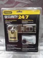 Stanley Hardware V8800 Solid Brass Heavy Duty Padlock with Hasp, 6-1/4 Inch