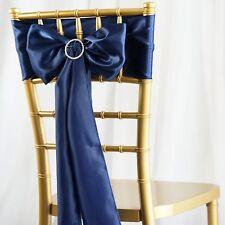 25/PK ~NEW~ Satin Chair Sash Bow Wedding Party Banquet 20+ Colors!