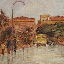 Canaccini Luciano 70 x 50 - Olio Tela - Strada a Livorno