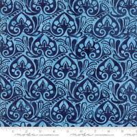 Longitude Batiks by Kate Spain Moda cotton fabric navy by half-yard #27259 101