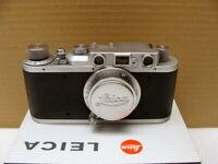 """Leitz Wetzlar - Leica II Elmar 3.5/5cm """"1937 mit Dioptrien-Ausgleich"""" - RAR!"""