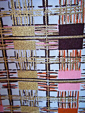 Mid century modern abstract vintage cotton fabric 2 drape or curtain panels!