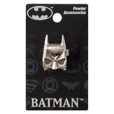 OFFICIAL DC COMICS - BATMAN COWL SYMBOL PEWTER LAPEL PIN BADGE (NEW)