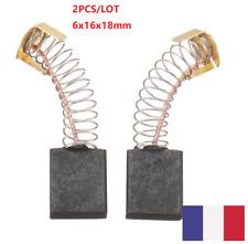 2 Pièce de rechange Balais De Charbon 6x16x18mm DC Moteur Polisseuse Électrique
