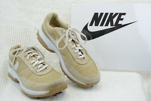 NIKE Golf SPORT PERFORMANCE WOMENS SIZE 6.5 M BEIGE/WHITE soft spikes R59