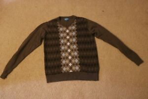 The Children's Place Boy's Sweater V-Neck 100% Brown Size XL