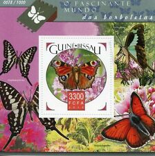 Guinea-Bissau 2015 MNH Butterflies 1v S/S Insects Peacock Butterfly Stamps