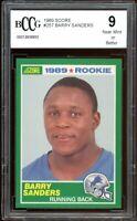 1989 Score #257 Barry Sanders Rookie Card BGS BCCG 9 Near Mint+