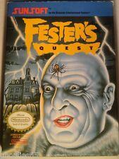 FESTER'S QUEST NINTENDO NES FESTER'S QUEST NES USA ADDAMS FAMILY NES