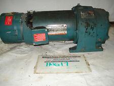Reliance inline gearmotor 56DG16A, 31:1, 1/2hp, 230/460, TEFC, 1140/37rpm, w/brk