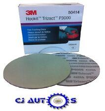 3M Trizact Fine Finishing Sanding Discs P3000 Grit Hookit 150mm 50414