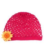Gymboree Sunflower Smiles Dark Pink Flower Crochet Hat 3 4 5 7 8 9 Nwt