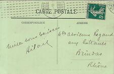 SARTHE-LE MANS OMEC  MACHINE CHAMBON DU 24-1-1913 SUR 5c SEMEUSE-COTE 120€.