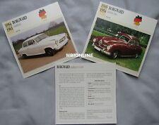 Borgward Collectors Classic Car Cards