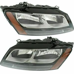 FITS FOR AUDI Q5 2009 2010 2011 2012 HEADLIGHT HALOGEN RIGHT & LEFT PAIR SET