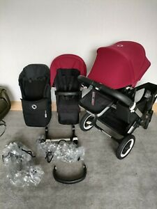 Bugaboo Donkey2 Double Buggy With 2 Seats 1 Carry Cot And Single Car Adaptor