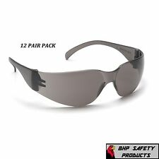 SMOKE/GRAY LENS SAFETY GLASSES YOUTH PYRAMEX MINI INTRUDER S4120SN (12 PAIR)