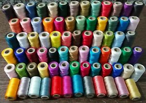 20 pc lot Indian Spools Of Silk sewing Thread machine Embroidery Colorful