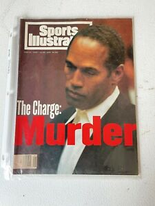 The Charge: Murder Sports Illustrated June 27 1994 OJ Simpson Football NFL