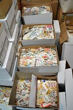 10 Pounds Unsorted Stamps On Paper. Singles-Old-New-Mainly US-Some World