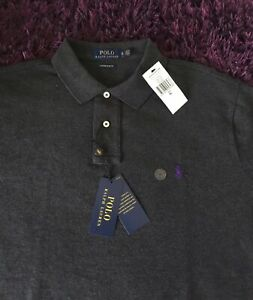 BNWT Super Cool 100% Genuine Ralph Lauren Custom Slim Fit Polo Shirt In XL