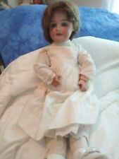 "Antique Schoenau & Hoffmeister Bisque Head Composition Doll 16 1/2"" Tall"