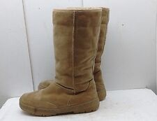 Steve Madden Women Brown Suede Winter Boot Mid Calf Insulated Pull On Shoes 10 M