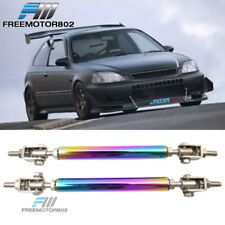 Neo Chrome Front Bumper Splitter Lip Spoiler Rod Support 5.5-8 Inch Ajustable