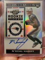 2019 Panini Contenders Optic SP N'Keal Harry Rookie RC On Card Auto Patriots 🔥