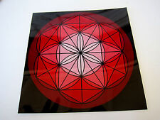 RED ROOT Base Chakra Spirit Board 8inch Cardstock Flower of Life Crystal Grid