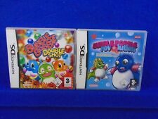 ds BUBBLE BOBBLE X2 Games Double Shot + Revolution Lite DSi 3DS PAL UK Nintendo
