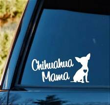 C1159 Chihuahua Mama Dog Decal Sticker Car Truck SUV Laptop Pet Gift Accessory