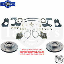 78-88 A/G Body & S10 REAR Disc Brake Kit Cross Drilled Slotted Rotors TRS