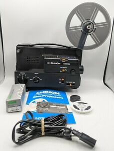 Vintage CHINON 4000GL Dual 8mm Cine Projector Adjustable Speed Tested Works*Read