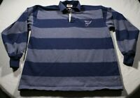 Vintage St. Louis Blues Barbarian Rugby Wear Jersey Shirt 2XL Polo NHL Hockey