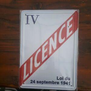 ⛔#Plaque# tôle murale Métal 15x21 neuf Vintage #publicitaire# #licence-IV#