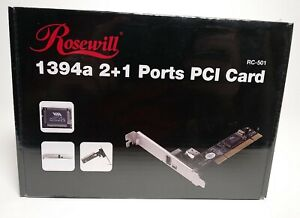 Rosewill 2+1 Ports FireWire 1394a Controller PCI Card RC-501 NEW