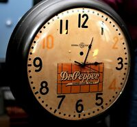 VINTAGE General Electric Dr. Pepper advertising wall CLOCK