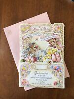 Unused Ambassador Hallmark Mom Easter Diecut 3D Fold Out Display Card & Envelope